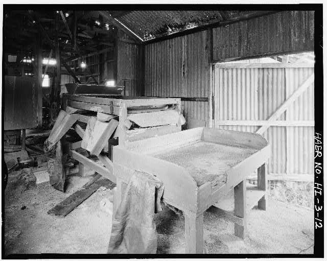 12.  GRADING AND BAGGING - Haraguchi Rice Mill, Hanalei River, Hanalei, Kauai County, HI