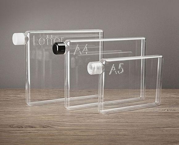 Slim Paper-Sized Water Bottles by Memobottle