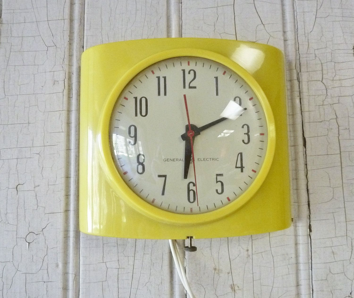 Vintage General Electric Yellow Kitchen Wall By Kitschyvintage 24 00