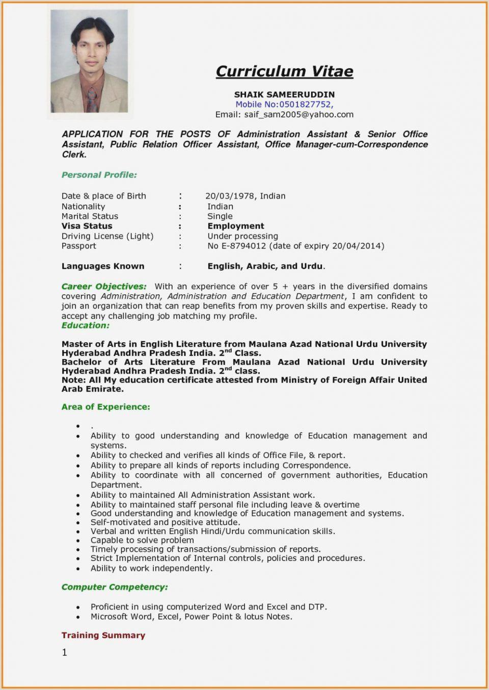 Curriculum Vitae Format Pdf Cv Format Job Interview Proper Resume