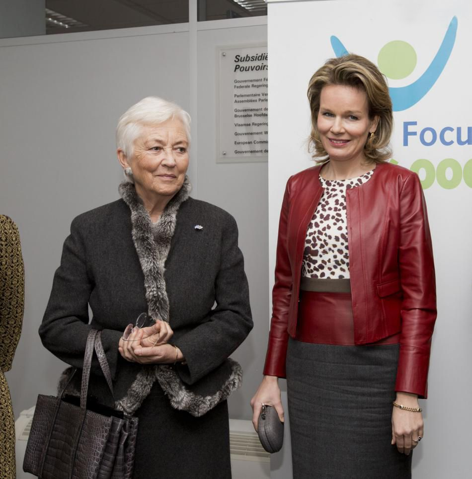 royalwatcher:   Queen Paola and Queen Mathilde attended a meeting for the Child Focus Foundation in Brussels, January 31, 2014