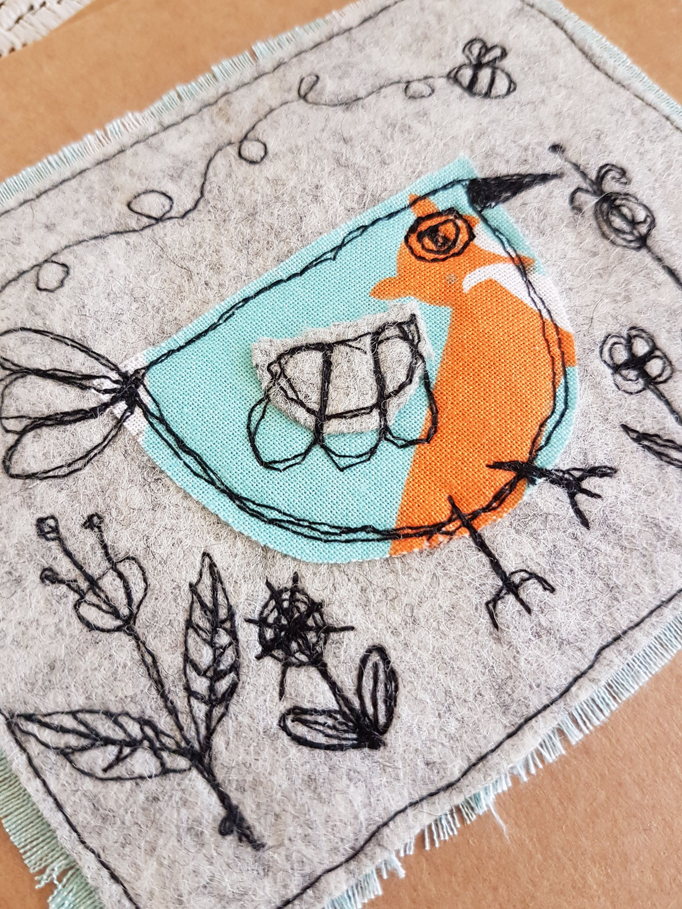 Whats that birdy funky free motion machine embroidery greetings whats that birdy funky free motion machine embroidery greetings card birthday card applique textiles daughter girlfriend wife mum sister kristyandbryce Image collections