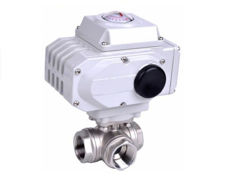 1 1 2 Inch 3 Way Stainless Steel Ss304 Pneumatic Electric Ball Valve Floating In Water Valve Stainless Steel
