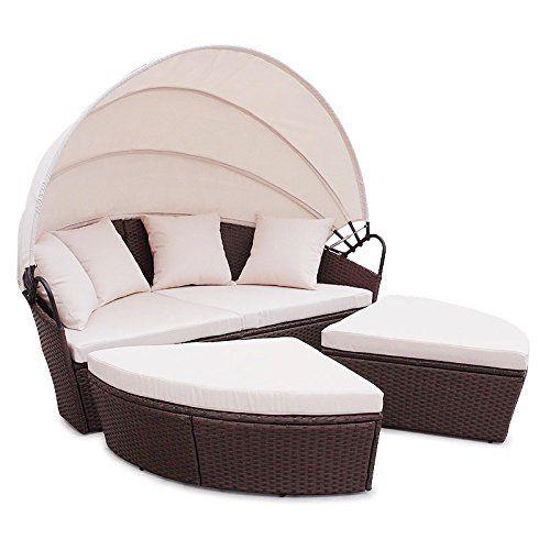 Amazon De Poly Rattan Sunbed Lounge Gartenset Braun Sofa Garnitur Polyrattan Gartenmobel Neu Polyrattan Gartenmobel Gartenmobel Gartenset