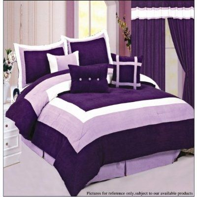 Bedroom Sets Purple black and purple bedding sets | purple comforter, purple bed and