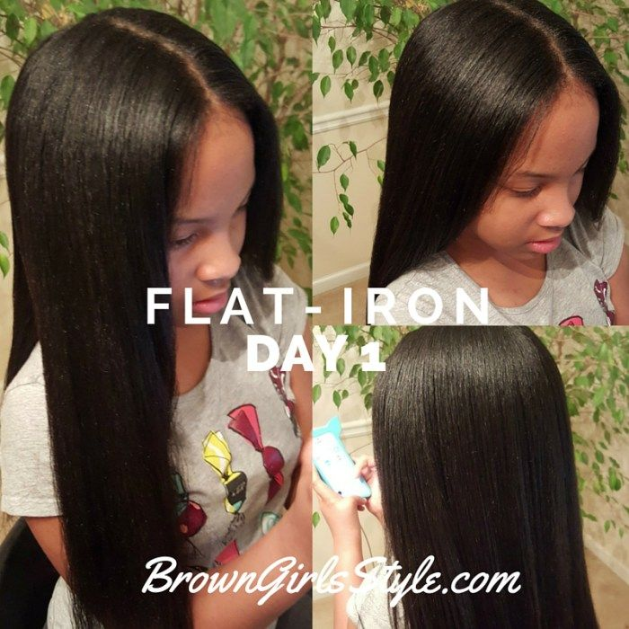 Flat Iron Hairstyles Inspiration Little Black Girls Hair Flat Iron Hairstyle  Natural Black Hair