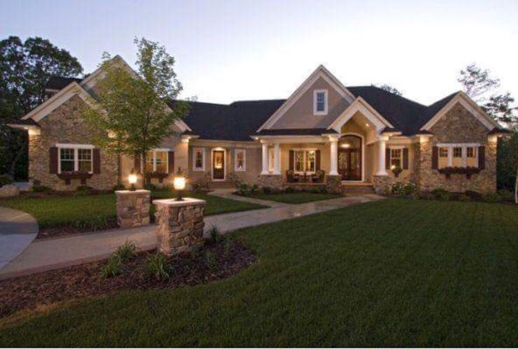 Fancy Brick House ranch hse1 Pinterest Bricks and House