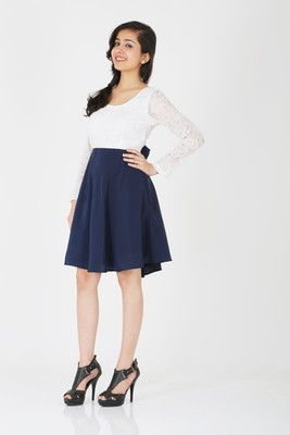 7a0340815ca30 Schwof Women s A-line Dress - Buy Blue Schwof Women s A-line Dress Online  at Best Prices in India