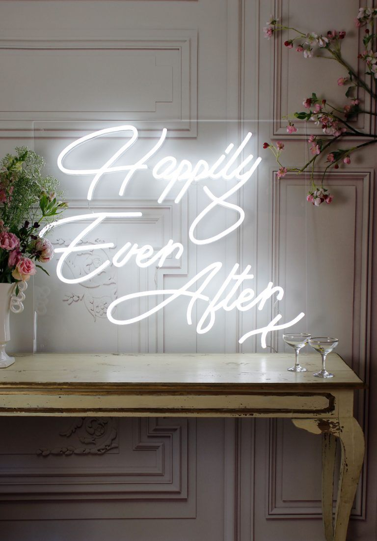 Happily Ever After LED neon light Wedding neon sign