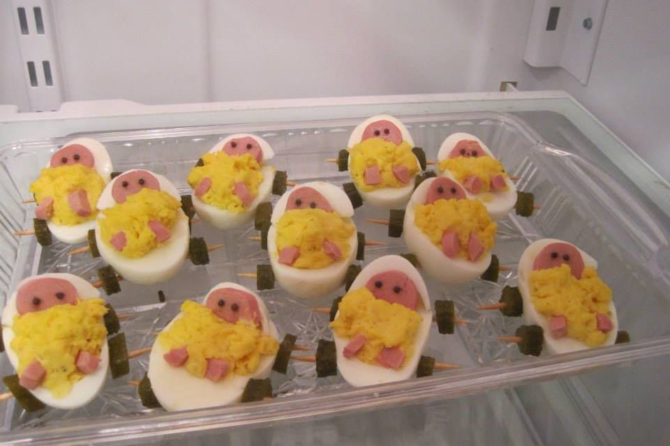 Made by Tanya Sadachny. Perfect idea for a baby shower appetizer!
