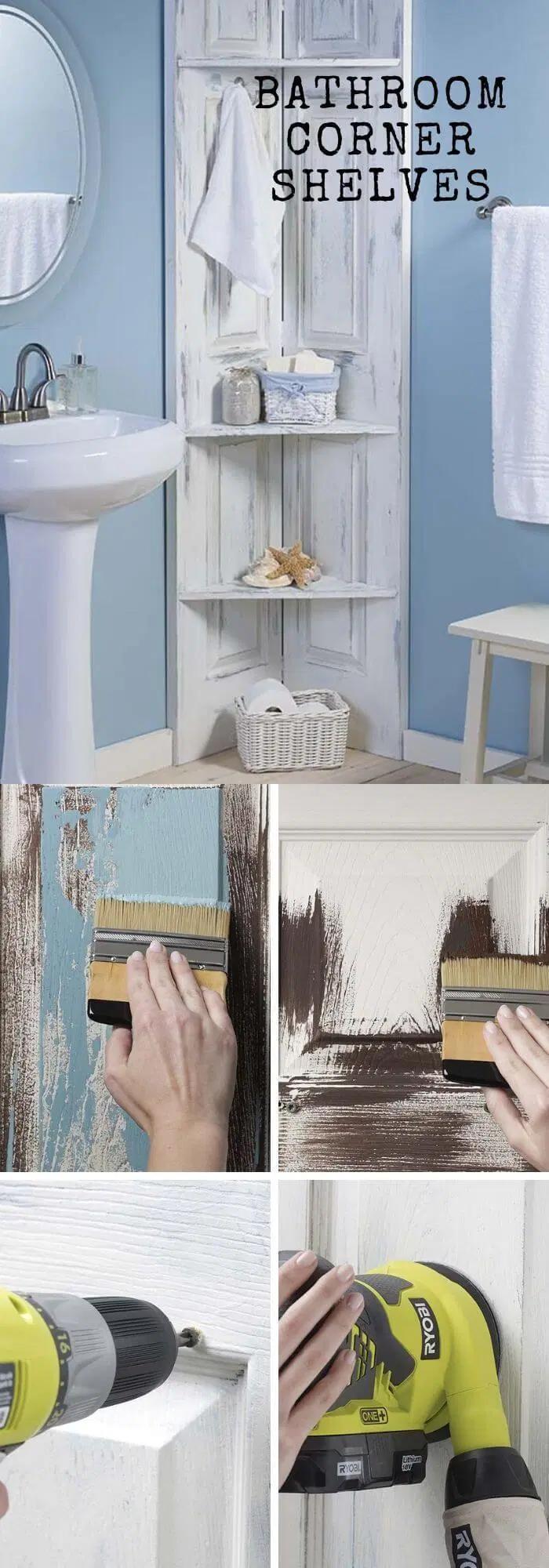 32 Awesome Diy Bathroom Shelf Ideas Designs For Tiny Bathroom Bathroom Shelves Diy Bathroom Corner Shelf Ideas