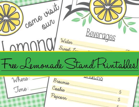 Free Lemonade Stand Poster  Menu Printable For Kids  A Modern