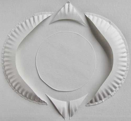Paper plate penguin template with instructions and photo of - penguin template