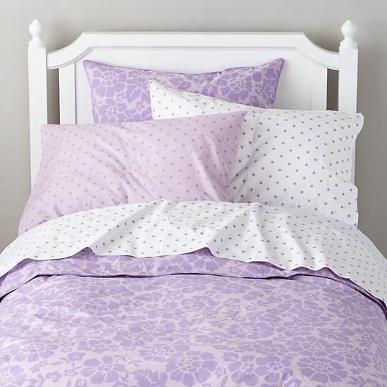 dream girl kid bedding lavender the land of nod project 7 pinterest lavender. Black Bedroom Furniture Sets. Home Design Ideas