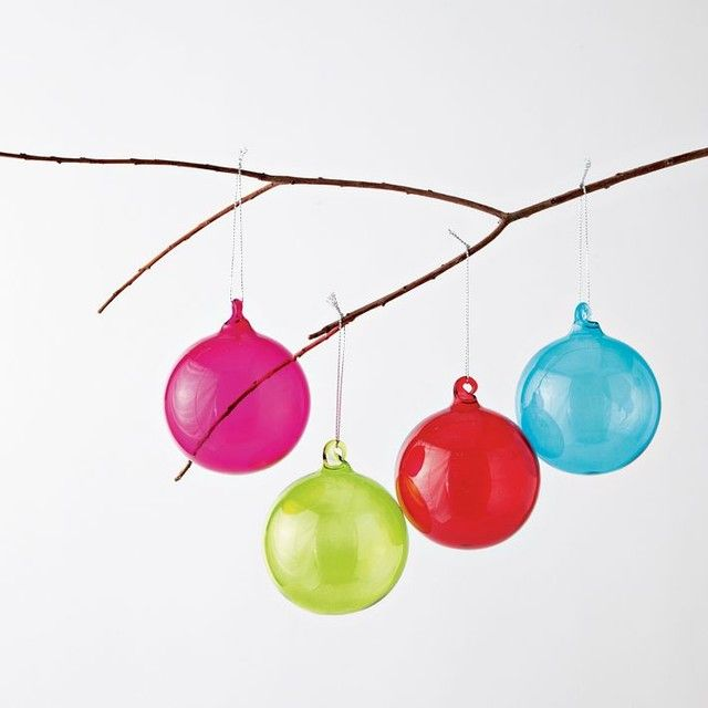 Colored Glass Sphere Ornaments modern holiday decorations