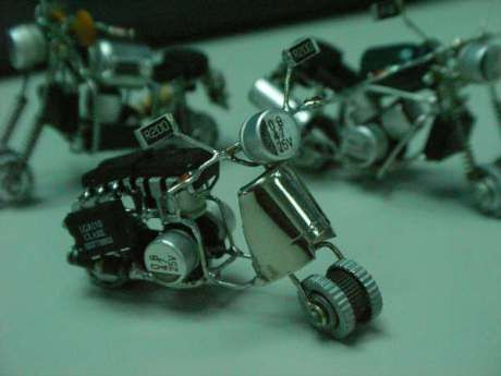Miniatur Motor Dari Komponen Elektronik Kreatif Miniatur Ide