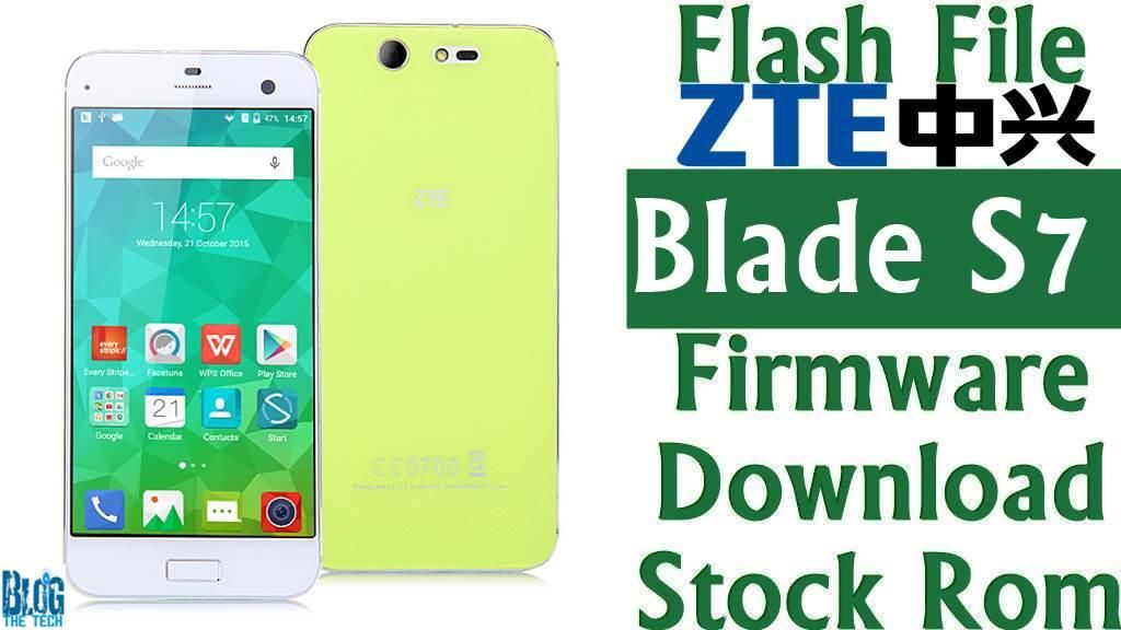 Flash File] ZTE Blade S7 T920 Firmware Download [Stock Rom