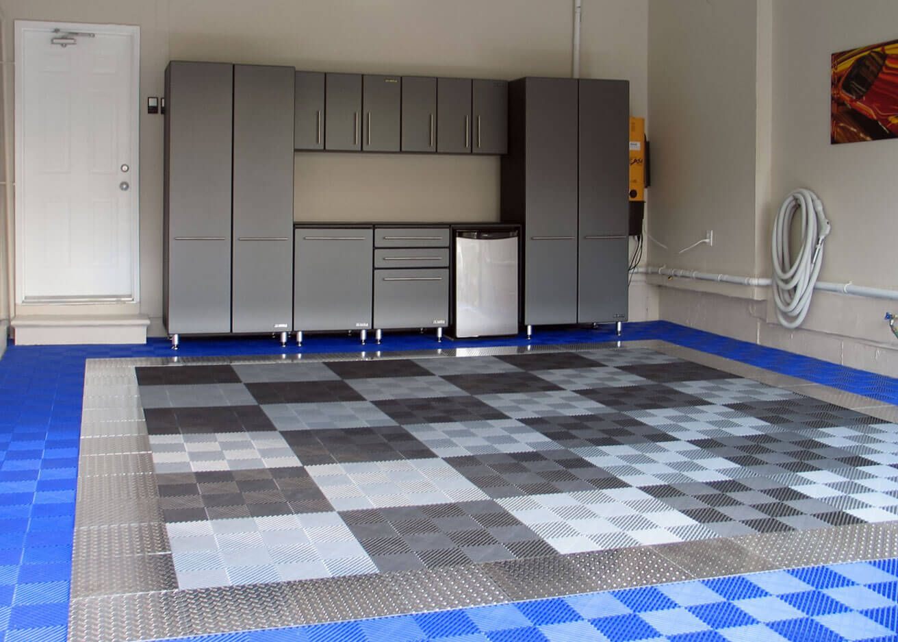 A home garage with racedeck pro garage ideas pinterest either as an accent pice or as the whole garage take your ride to the next level with racedeck pro high end aluminum diamond plate garage flooring dailygadgetfo Gallery