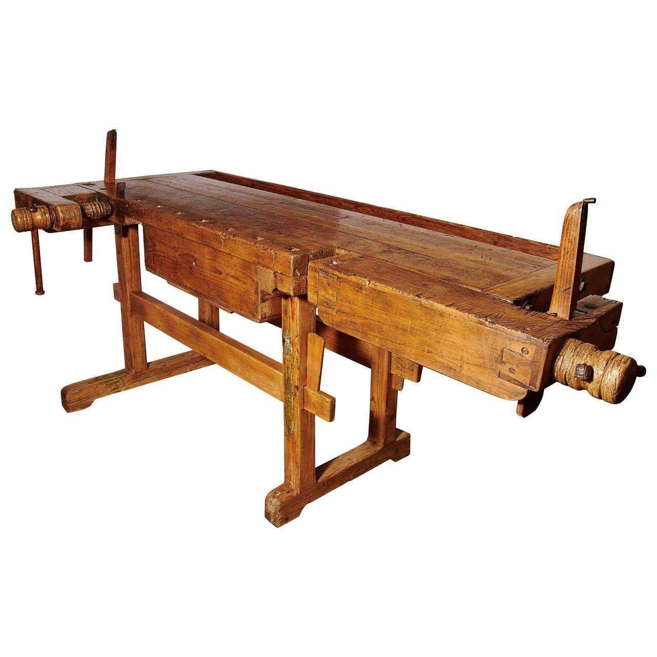 European carpenters workbench 1 antique woodworking
