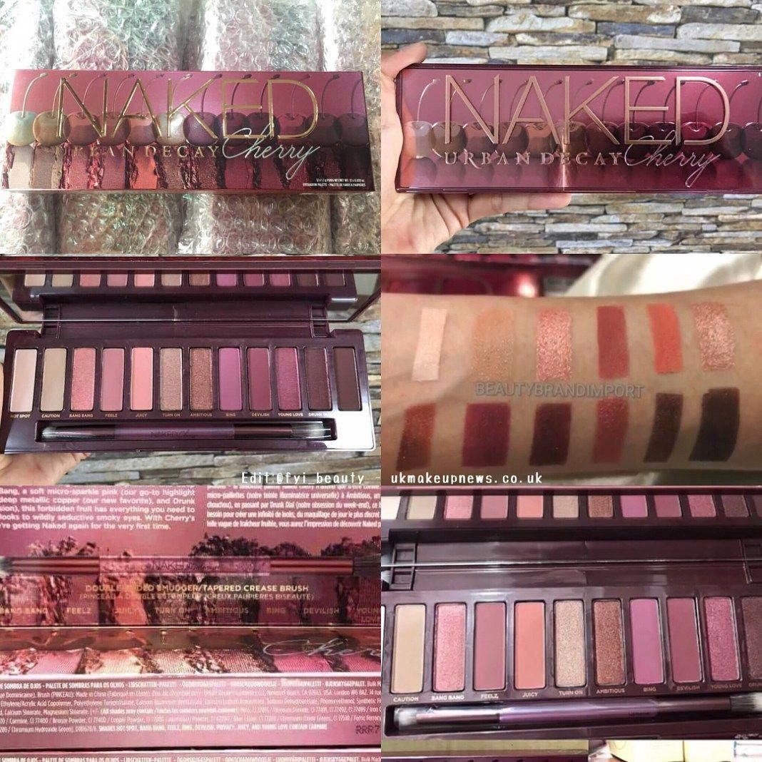 Swatches Urban Decay Naked Cherry Palette #urbandecayeyemakeup