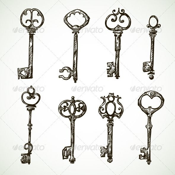Key Drawings on Pinterest | Arrow Drawing, Vintage Key Tattoos and Key ...