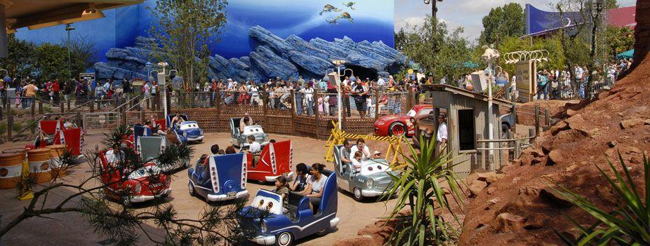 Cars Quatre Roues Rallye Attractions Disneyland Paris Eurotrip
