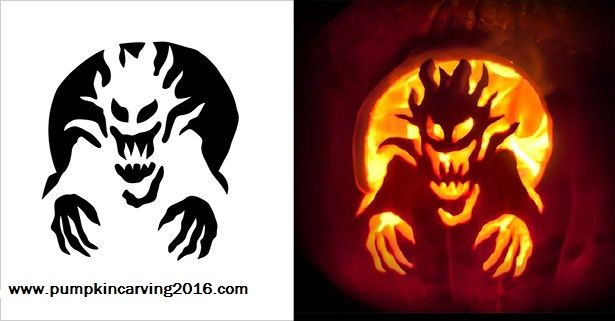 20 amazing halloween scary pumpkin carving ideas templates and designs 2016 9 halloween for Ghost pumpkin carving ideas