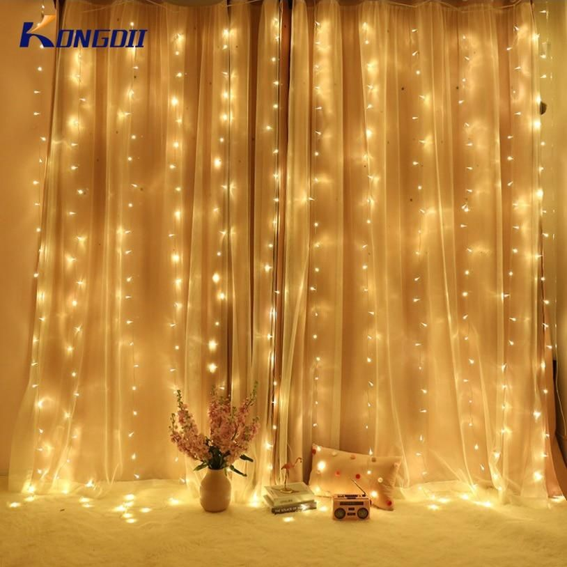 Diy Curtain Lights Lights Are From Amazon And Curtains Are From Walmart Light Curtains Bedroom Diy Curtains Bedroom Loft