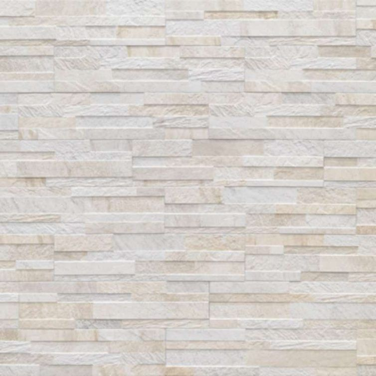 Cubics 3d Ledger Stone Look Wall Tile Ceramica Rondine Bv Tile And Stone White Wall Tiles Wall Tiles White Walls