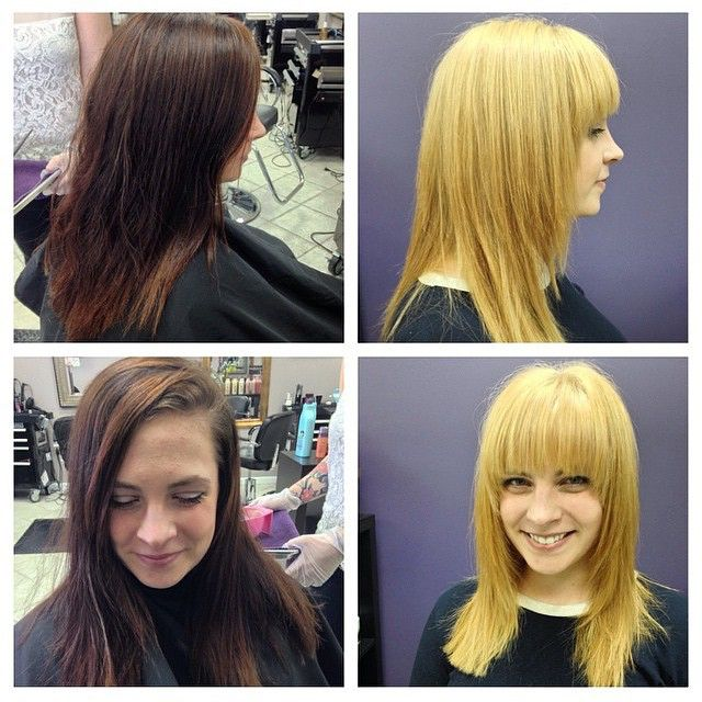 Blonde Bangs Haircut Color By Nicole At Beyond The Fringe