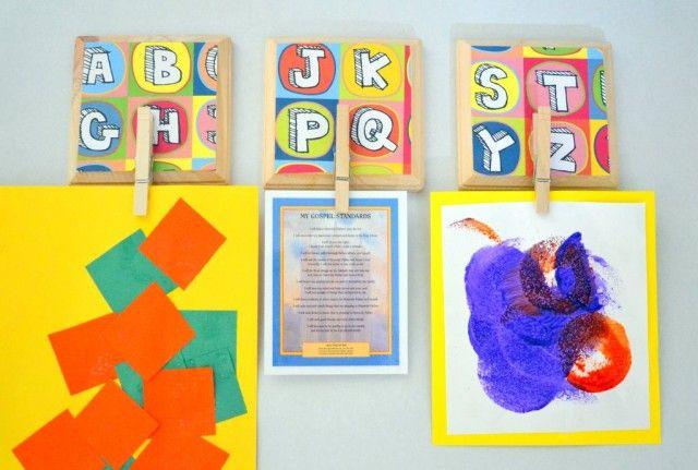 Mod Podge Wall Art: display kiddos artwork - craft - Little Miss ...