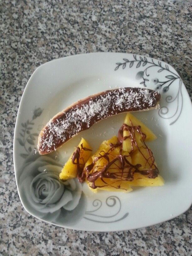 Banane Nutella Coco et morceaux d'ananas - un vrai délice ;-)
