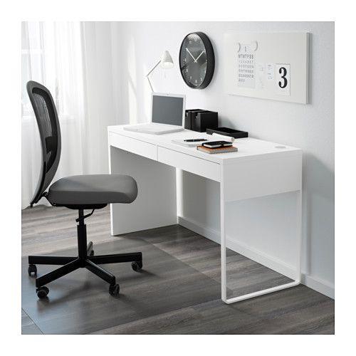 expedición bicapa puño  MICKE Desk, white, 55 7/8x19 5/8