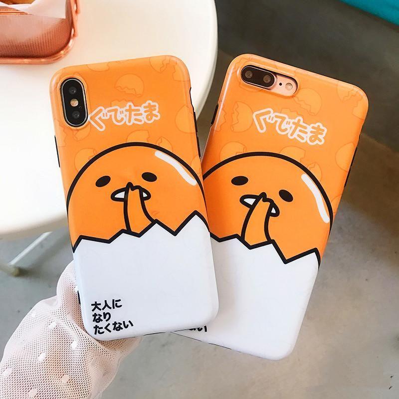 Kawaii Gudetama Phone Case for iphone 6/6s/6plus/7/7plus/8/8P/X/XS