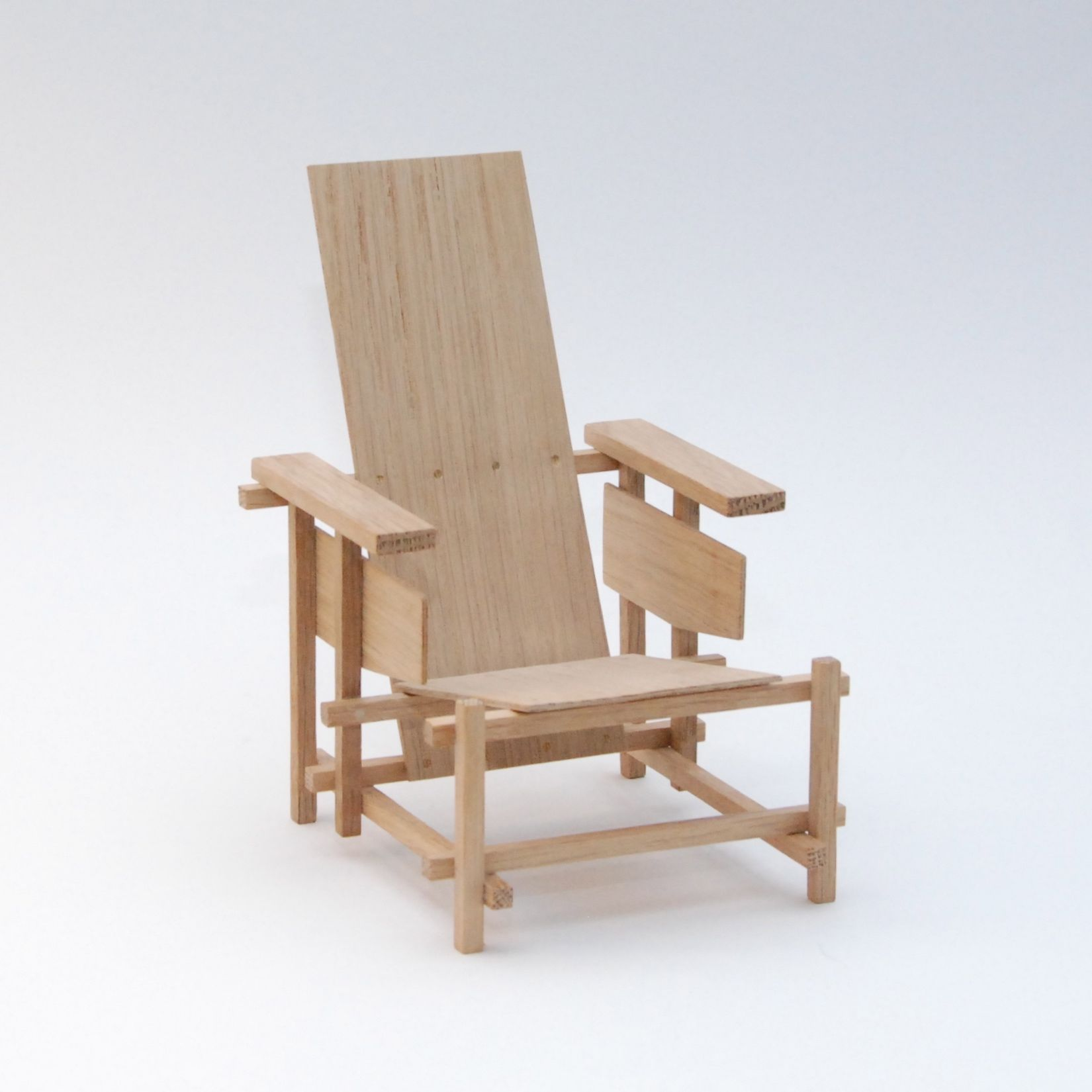Gerrit rietveld chair for sale - Gerrit Rietveld Design By Gerrit Rietveld 1919 Scale Model Handmade By Cees Jacobs Not For Sale