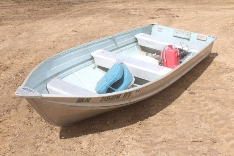 12ft Aluminum Fishing Boat Has Sea King 9 6hp Camp