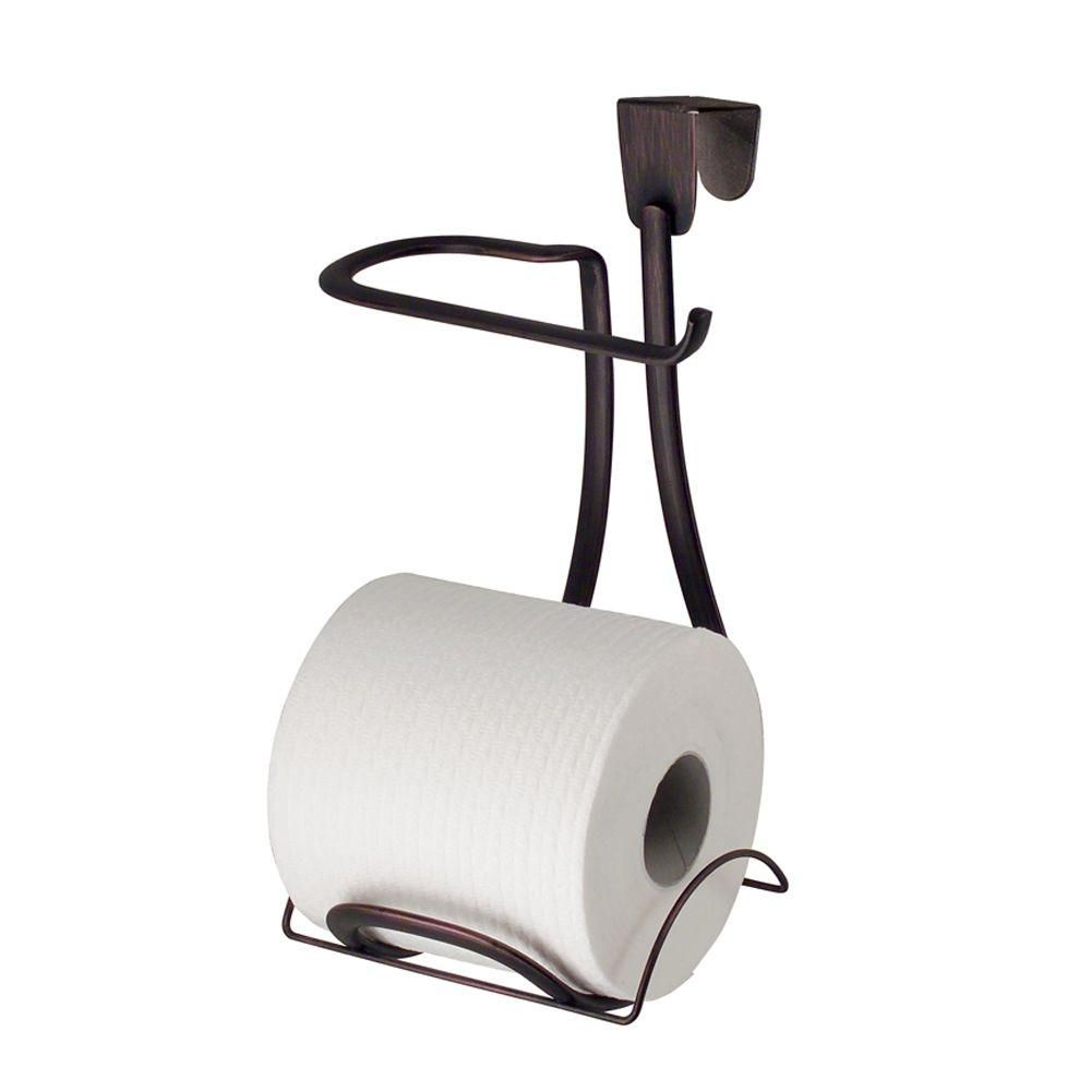 interDesign Axis Over-the-Tank Toilet Paper Holder Plus in Bronze ...