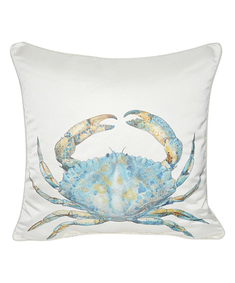 Take a look at this Cream Satin Blue Crab Throw Pillow today ...
