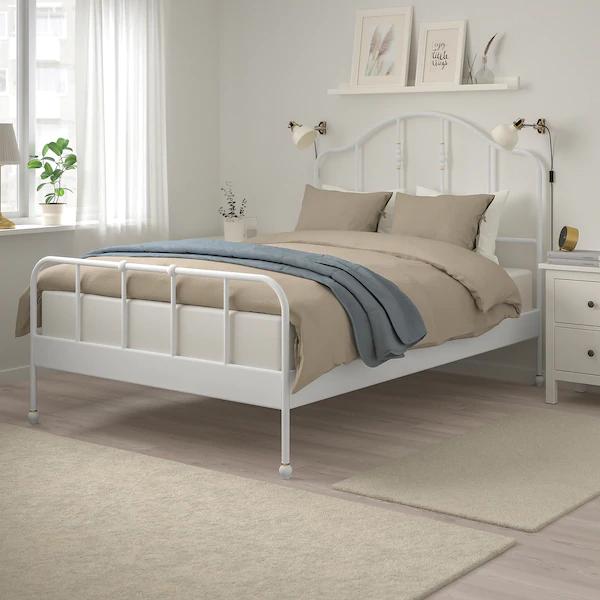 SAGSTUA Bed frame, white, Full IKEA in 2020 White bed