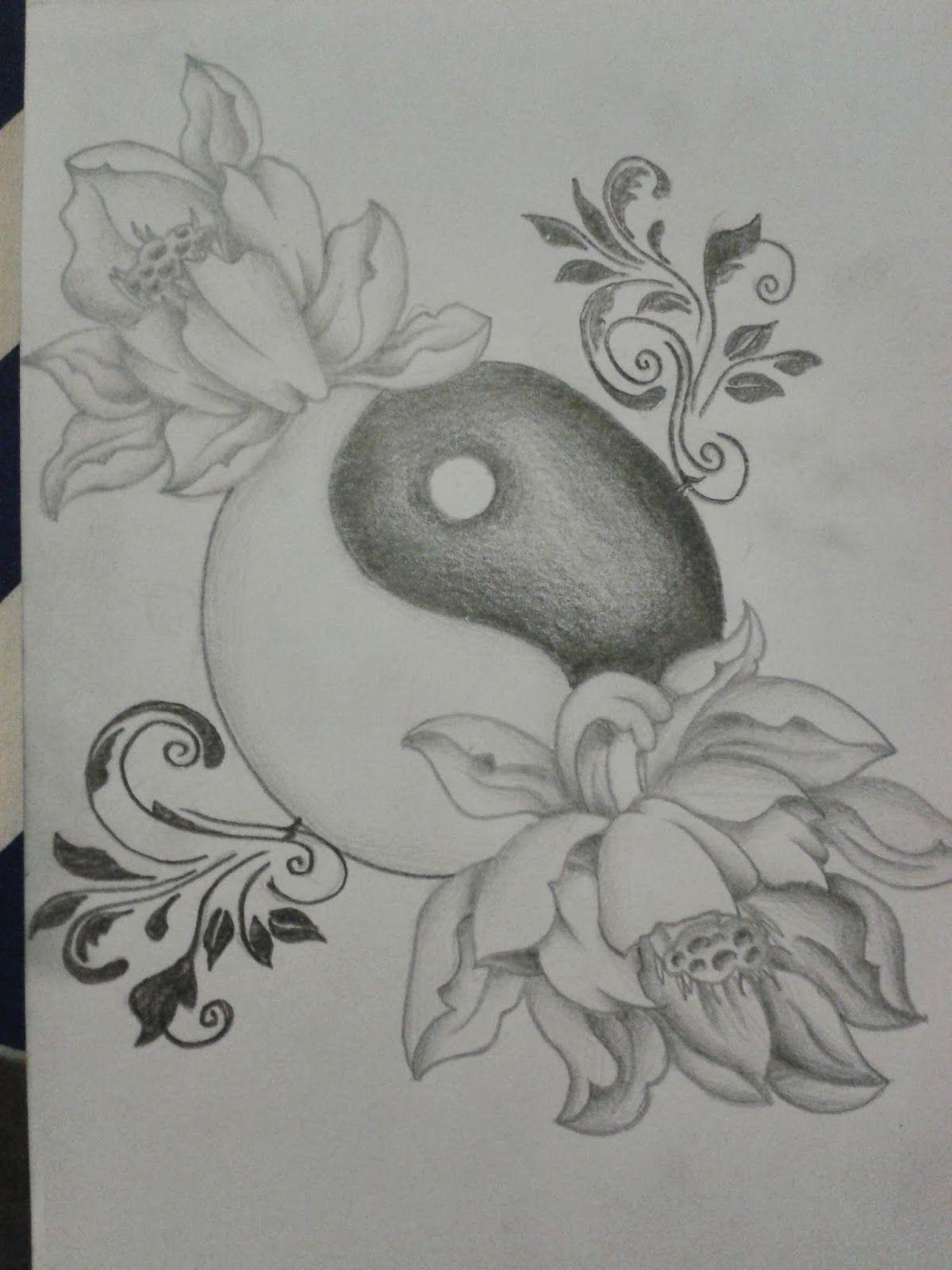 R3dwall Art Lotus Floweryin Yang Tattoo Design Tattoo Ideas
