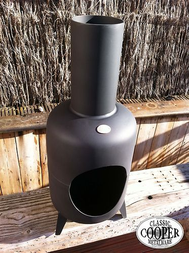 Cooper Classic Chiminea Patio Heater Garden Fire Pit Wood Log Burner Handmade Gas Bottle Wood Burner Diy Wood Stove Garden Fire Pit