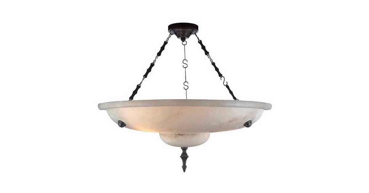The alabaster shade of this striking pendant will cast an elegant, quiet glow over any room it's in. Hardwired.Lighting adds texture and atmosphere to any space; it's the visual punctuation that...
