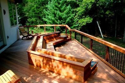 decks with benches and planters deck flower box deck bench