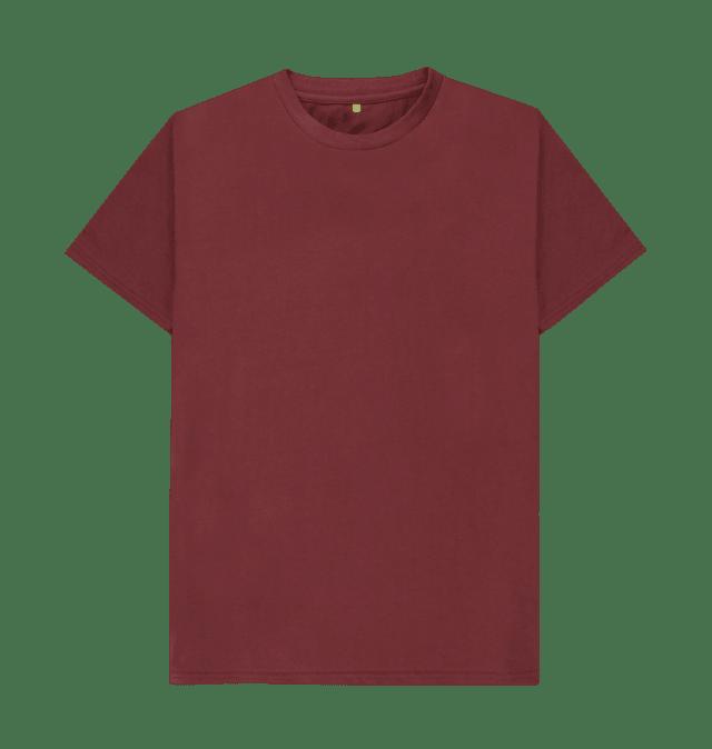 Red Wine Plain Organic T Shirt Organic Cotton T Shirts Plain Tee Shirts Fashion Tees