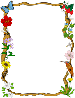 Nature Border Clip Art Borders Page Borders Design Borders And Frames