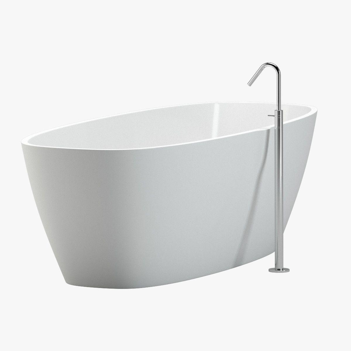 3D Bathtub 02 Faucet Model - 3D Model | 3D-Modeling | Pinterest ...