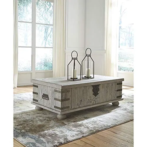 Best Carynhurst Coffee Table Distressed Finish White 400 x 300