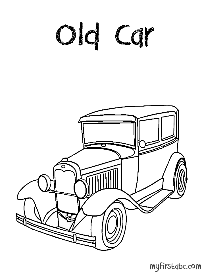 Old Car - Old Car Coloring Page | Projects to Try | Pinterest | Cars
