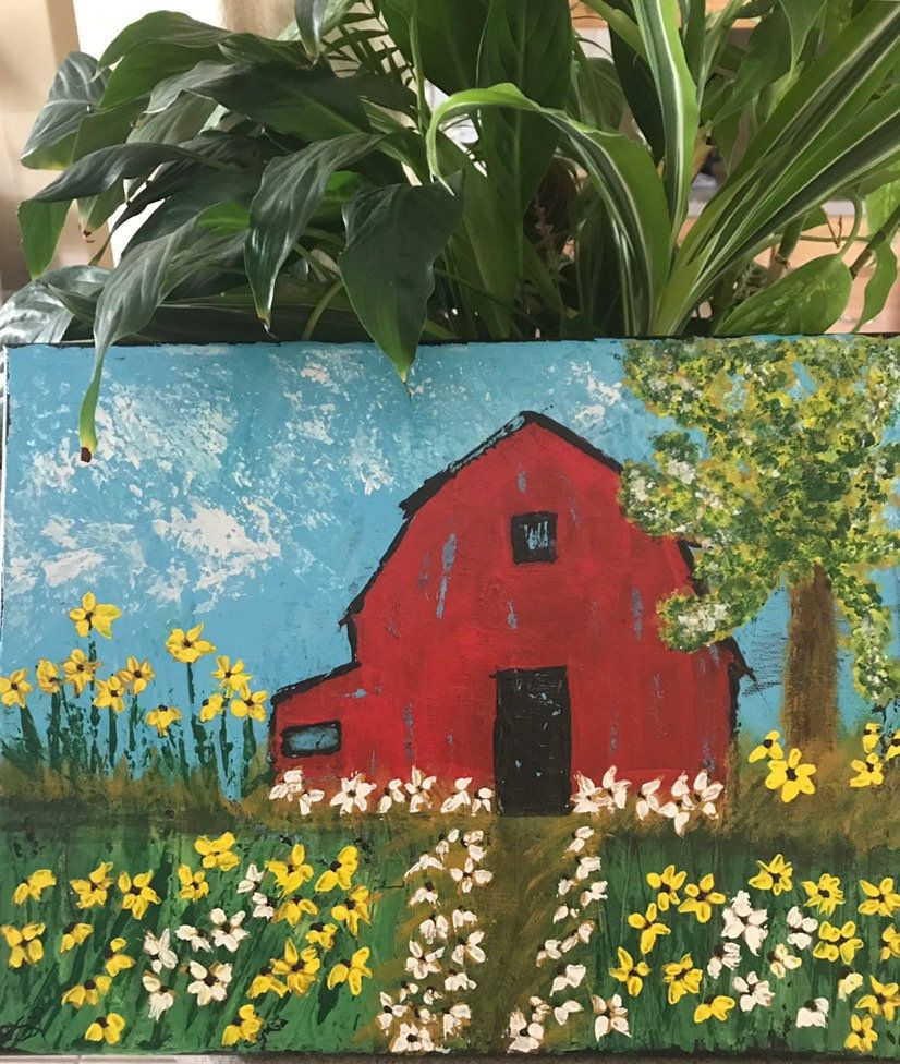 Red Barn at Spring Times   Eclectic design, Design art ...