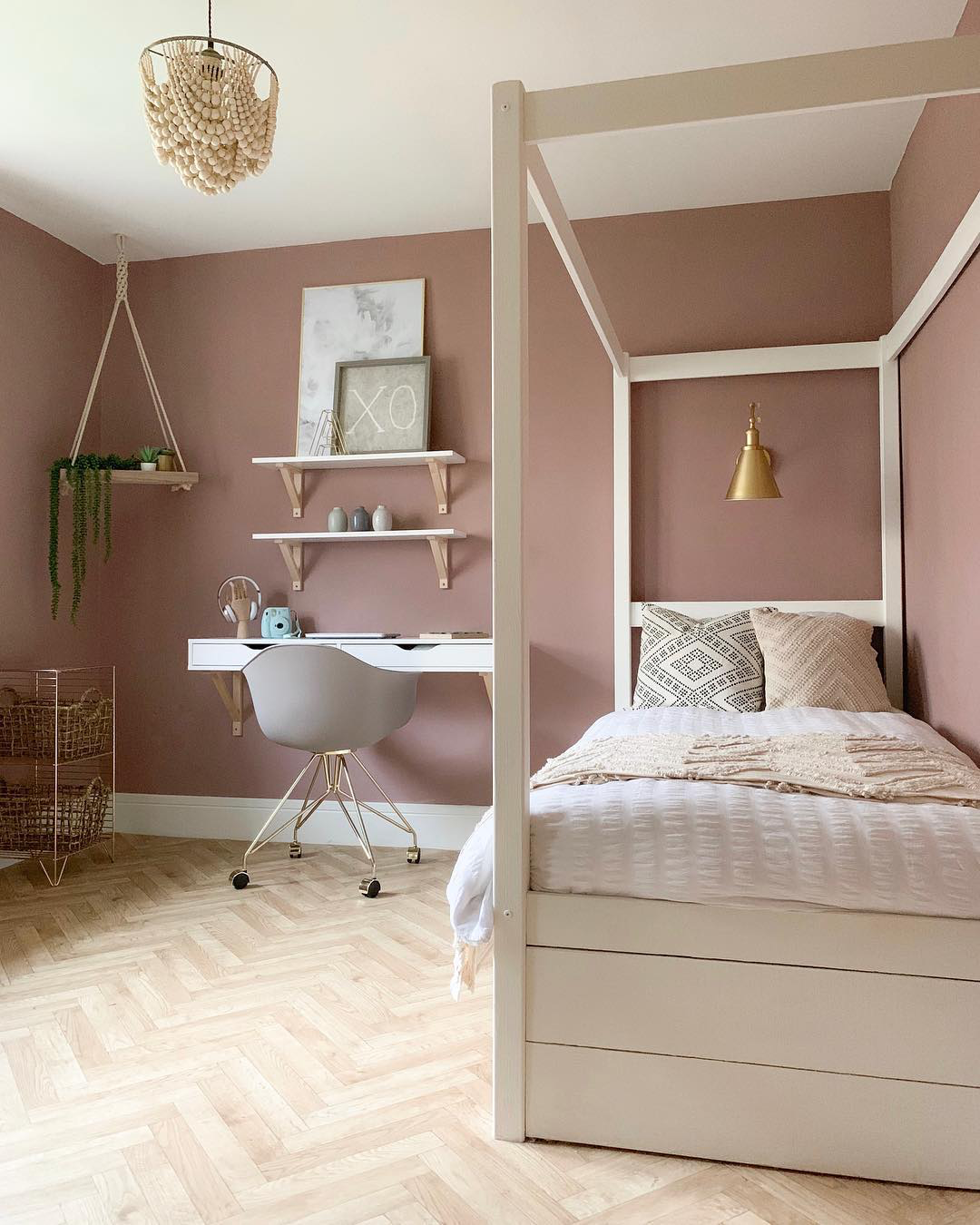 Sulking Room Pink Scandi Style Pink Bedroom Walls Bedroom Interior Bedroom Wall